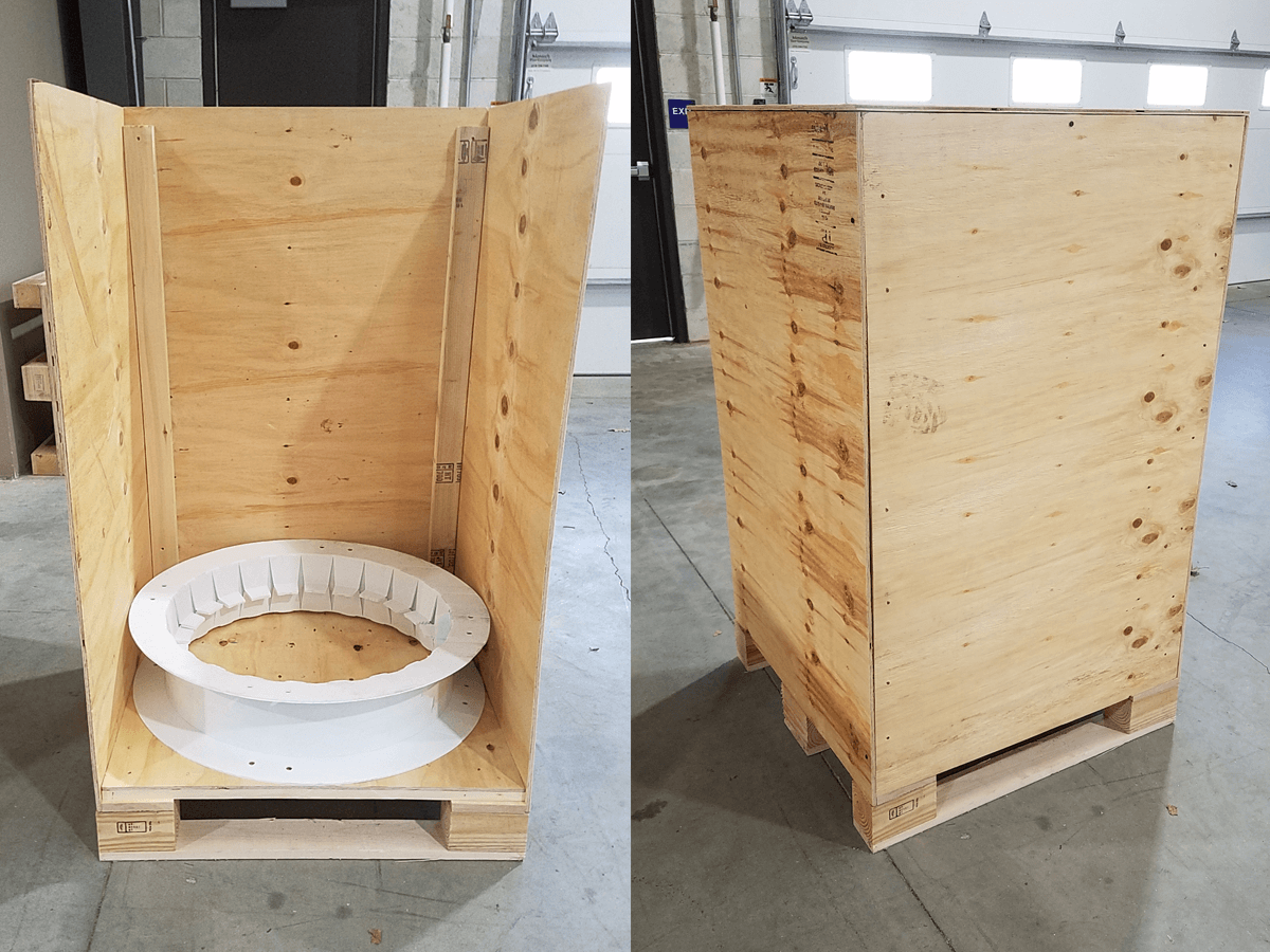 Plastic-reel-shipping-crate